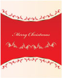 Christmas card. Special Christmas card with vintage decoration Royalty Free Stock Image