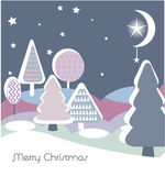 Christmas card. Christmas vector card with abstract trees Royalty Free Stock Image