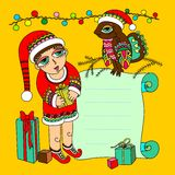 Christmas card. Created in coreldraw Royalty Free Stock Image