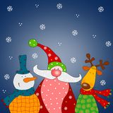 Christmas card. Colorful graphic illustration for children Stock Photo