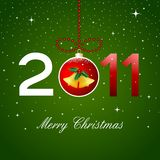 Christmas card, 2011 Royalty Free Stock Image