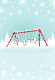 Christmas card 2012. Christmas card with playground happyness fonts Stock Photos