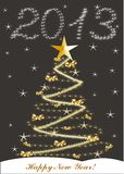 Christmas card  with 2013 Royalty Free Stock Photo