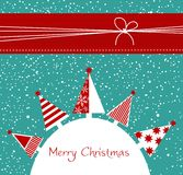 Christmas card. With decorated trees, vector Stock Image
