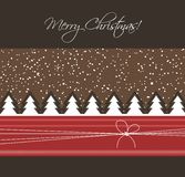 Christmas card. With trees, vector Stock Image
