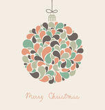 Christmas card. An invitation card with colorful christmas ball Stock Photo