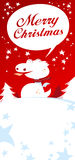 Christmas card. Christmas card with Dragon, talking Merry Christmas stock illustration