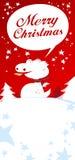 Christmas card. Christmas card with Dragon, talking Merry Christmas Royalty Free Stock Image