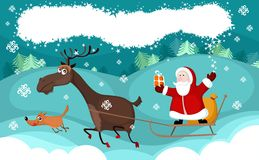 Christmas card. Vector illustration of a christmas card Royalty Free Stock Photo