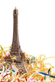 Christmas card. With Tour d'Eiffel on a white background Stock Images
