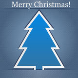 Christmas Card. Abstract Christmas Card on a blue background Royalty Free Stock Photo