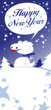Christmas card. Christmas card with Dragon, talking Happy New Year royalty free illustration