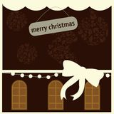 Christmas card. For christmas themes and decorations Stock Photography