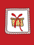 A Christmas Card. In red Stock Photography