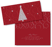 Christmas card. Editable Christmas card design template Royalty Free Stock Image