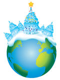 Christmas Earth Stock Photography