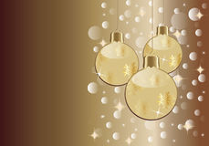 Christmas card. With decorative balls Royalty Free Stock Images