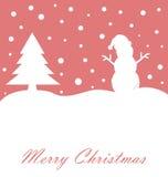 Christmas Card. Merry christmas holiday greeting card stock illustration