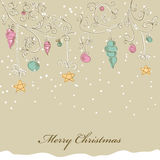 Christmas card. Hand drawn xmas vector decoration Royalty Free Stock Photography