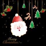 Christmas  card. Write a Christmas greeting cards Stock Photos