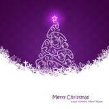 Christmas card. Fantastic purple illustration Royalty Free Stock Photo