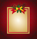 Christmas card. Vector illustration of Christmas card with ribbons Royalty Free Stock Images