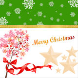 Christmas card. Merry Christmas,happy every day stock illustration