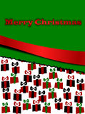 Christmas Card. And a lot of little gifts Royalty Free Stock Photography