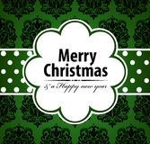 Christmas card. Christmas greeting card. Vector illustration Royalty Free Stock Photography