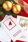 Christmas card. Handmade Christmas card and decoration Stock Images