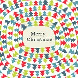 Christmas card. Funny Christmas card with color christmas trees. Vector illustration Royalty Free Stock Photography