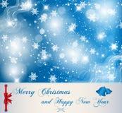 Christmas card. Stock vector illustration decorative blue Christmas card Royalty Free Stock Photo