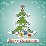 Christmas card. Stylized Christmas card with greetings Stock Image