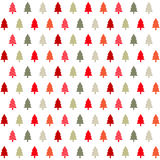 Christmas card. Colorful christmas tree icons on the white background royalty free illustration