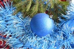 Christmas card. With christmas-tree decorations Stock Photos