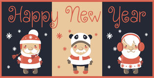 Christmas card. It is a very cute Christmas card Royalty Free Stock Image