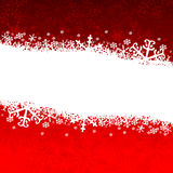 Christmas card. With snowflakes on red background royalty free illustration