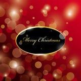 Christmas Card. Glowing Christmas card design Stock Image
