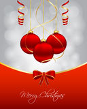 Christmas card. With hanging balls Stock Photo