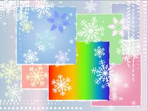 Christmas card. With snowflakes and background Royalty Free Stock Image