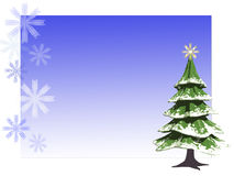 Christmas card. A Christmas card for greetings Royalty Free Stock Photo