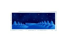 Christmas card. Winter night, illustration stock illustration