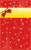 Christmas card. Vector illustration of Christmas card with ribbon and snowflakes Royalty Free Stock Photo