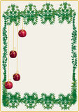 Christmas card. Letter for Christmas or background or frame Stock Image