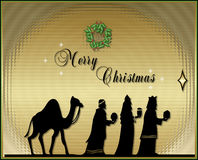 Christmas Card. Background with silhouette -Christmas theme Stock Photo