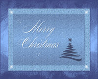 Christmas Card. Background with silhouette -Christmas theme Stock Photos