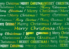 Christmas card. With green background Royalty Free Stock Photo