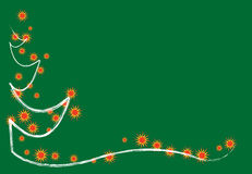 Christmas  card. White Christmas white green background Stock Images