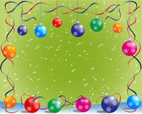 Christmas card. Christmas background, vector illustration with balls Stock Photos