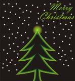 Christmas card. Modern christmas card with stars Royalty Free Stock Photos